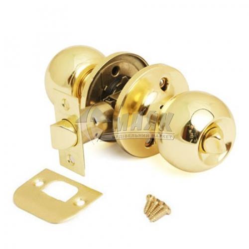 Ручка-замок (кнобсет) дверний Apecs 6072-03-G золото
