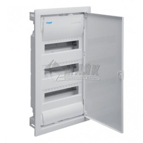 Щиток пластиковий вбудований Volta Hager 36 модулів IP30 з металевими дверима
