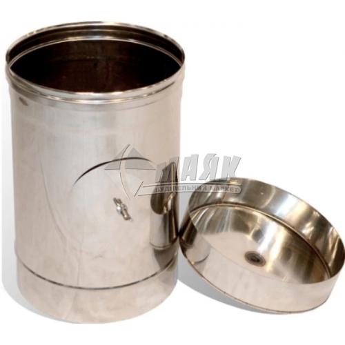 Ревізія димоходу ВЕНТ УСТРІЙ 90° 0,5×130 мм нержавіюча сталь 201