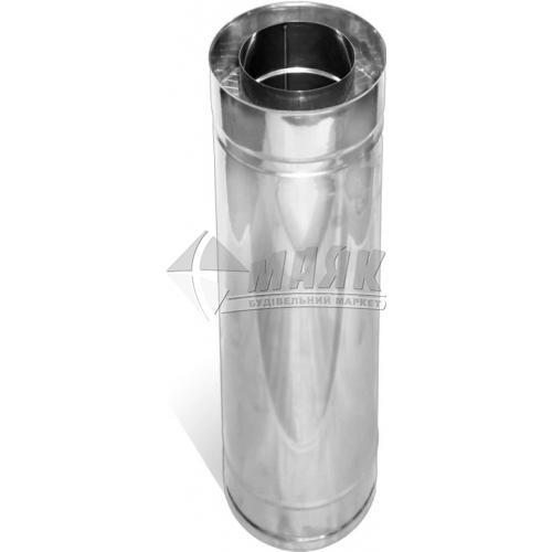 Труба димоходу ВЕНТ УСТРІЙ Термо 0,8×180/250 мм 0,3 м нержавіюча сталь 304