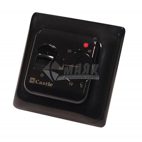 Терморегулятор для теплої підлоги Castle M5,16 кнопковий чорний