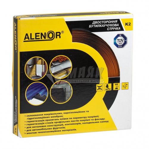 Стрічка бутилкаучукова самоклеюча ALENOR К2 15 м х 15 мм двохстороння