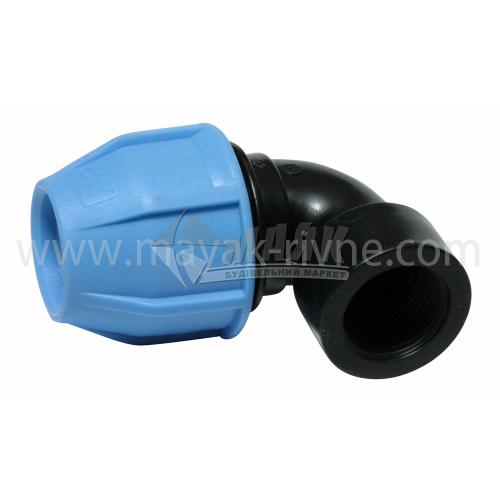 """Коліно для водопровідної труби VS Plast 32 мм 1"""" внутрішня різьба"""