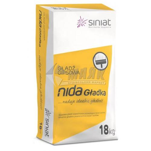 Шпаклівка гіпсова Siniat Nida Perfekt (Gladka) фінішна 18 кг