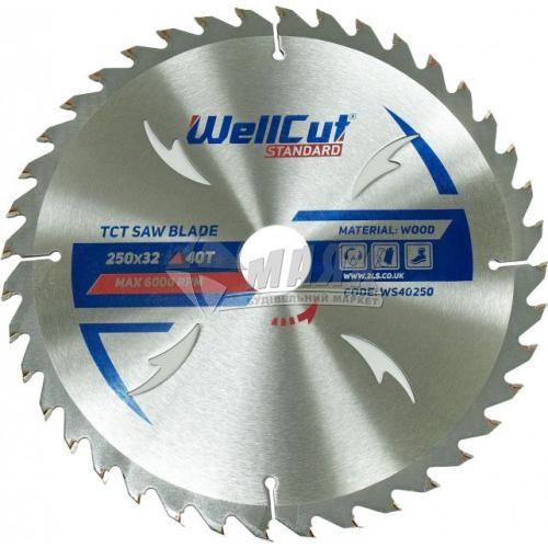 Диск пиляльний WellCut Standard 250×32 мм 40Т