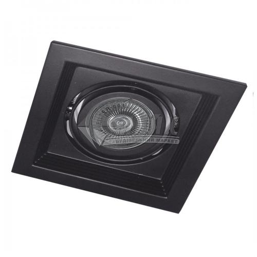 Світильник точковий вбудований Feron DLT201 МR16 GU5.3/G5.3 поворотний чорний