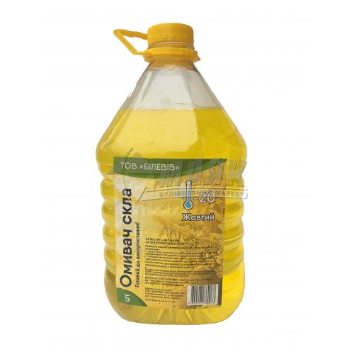 Омивач скла зимовий Білевів Лимон Фреш -20°С 4,8 л жовтий
