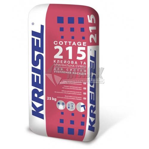 Клей монтажний для систем теплоізоляції Kreisel COTTAGE 215 25 кг