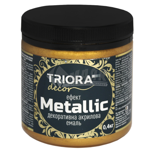 Фарба декоративна TRIORA Metallic 0,4 кг 928 червоне золото