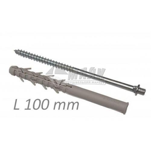 Шуруп з дюбелем для водостічної труби Акведук 100 мм