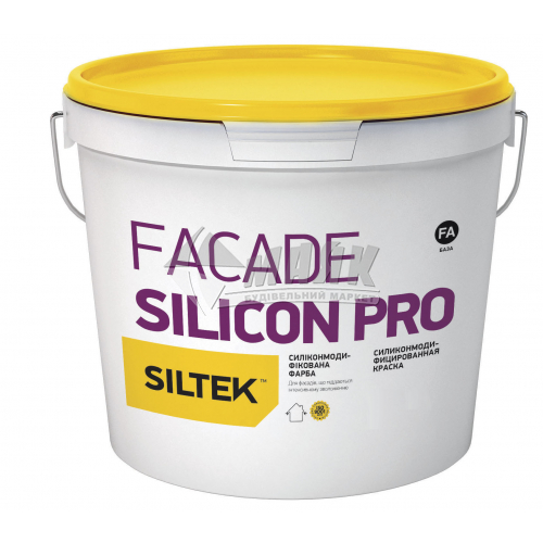 Фарба фасадна преміум-класу Siltek Silicon Pro база FA силіконова 4,5 л біла
