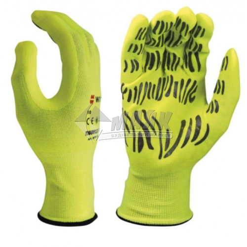 Рукавиці трикотажні робочі захисні WURTH TIGERFLEX HI-LITE 0899403090 XL (10) покриття нітрилове