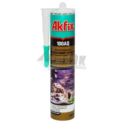 Герметик силіконовий для скла та акваріумів Akfix 100AQ 280 мл чорний