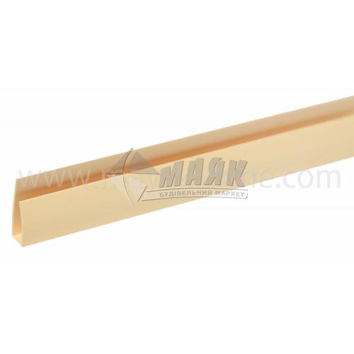 Профіль монтажний ПВХ стартовий П-подібний 3 пог.м 8,5 мм світло-коричневий