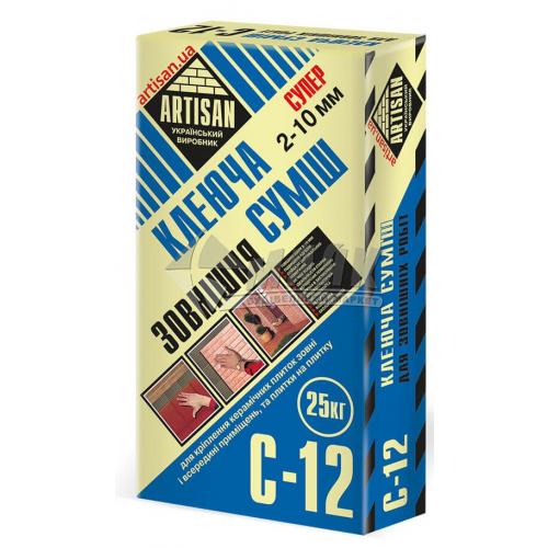Клей для облицювальної плитки Artisan C-12 Зовнішня 25 кг