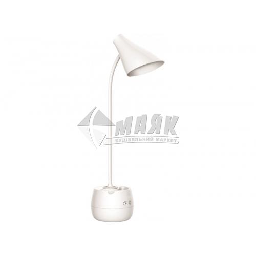 Лампа настільна світлодіодна акумуляторна Luxel TL-10W 10Вт біла
