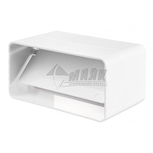 З'єднувач плоских вентиляційних каналів зворотній клапан DOSPEL 007-0306 110×55 мм
