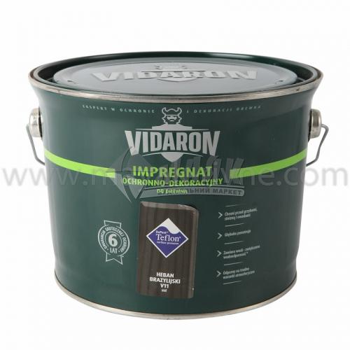 Захист для деревини Vidaron Impregnat 4в1 V11 9 л чорне бразильське дерево