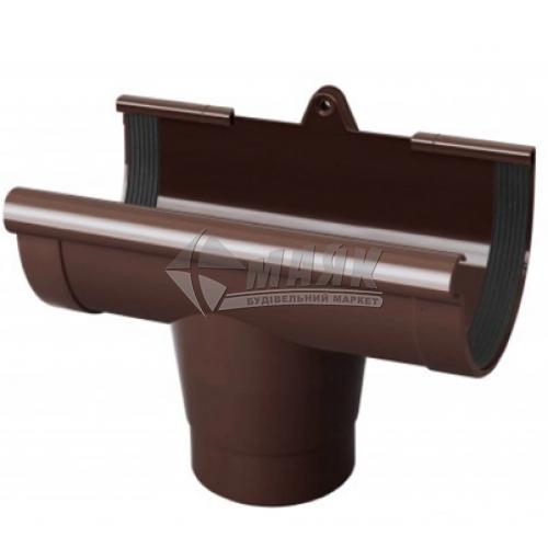 Лійка (воронка) ринви пластикова NewWay 120 мм коричнева