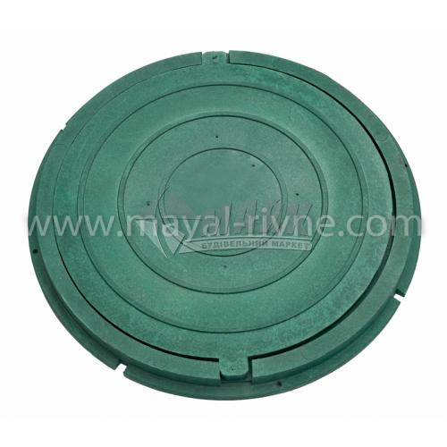 Люк каналізаційний полімерпіщаний садовий легкий тип ПЛ зелений