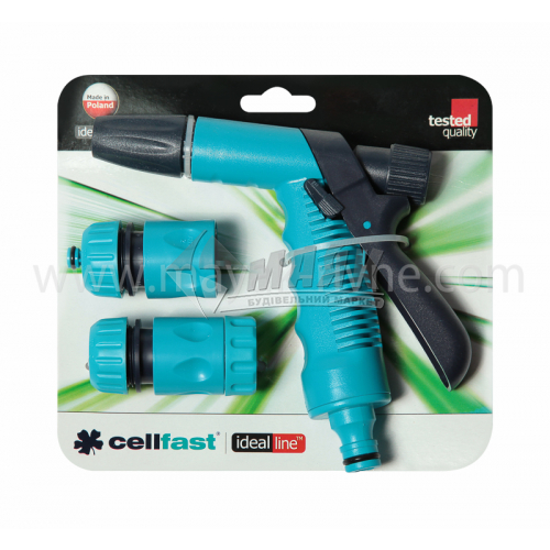 """Набір поливочний пластиковий Cellfast пістолет з комплектуючими 1/2"""""""
