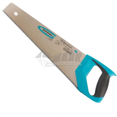 Ножівка по дереву Gross 7-8TPI 400 мм гартовані зубці пластикова ручка