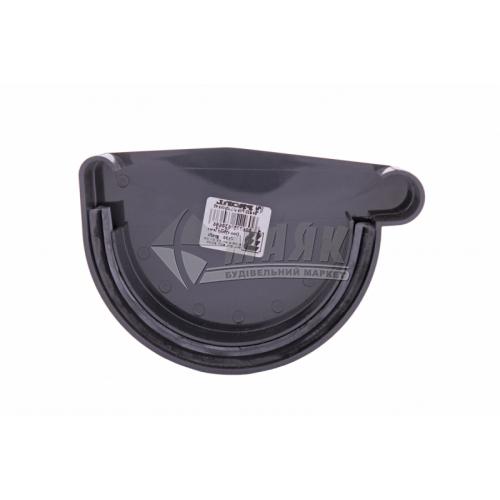 Заглушка ринви пластикова права P Profil 130 мм 130/100 графіт