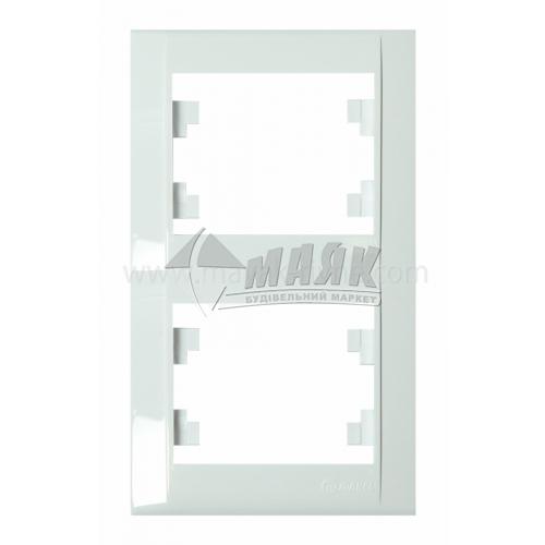 Рамка двомісна вертикальна Makel Defne біла