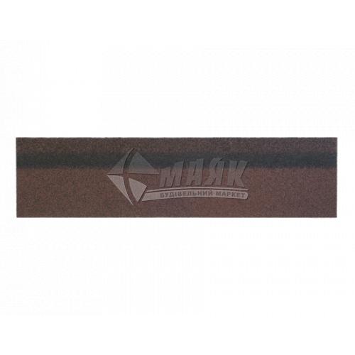 Коник-звіс ТЕХНОНІКОЛЬ для бітумної черепиці 250×1000 мм 5 кв.м коричневий