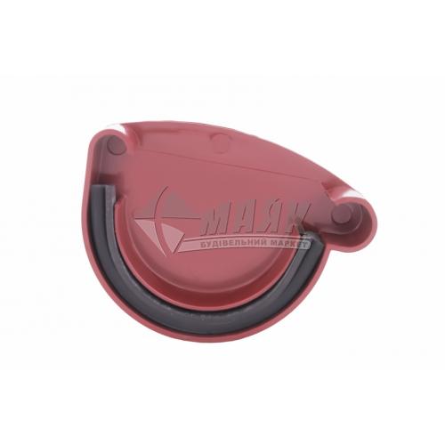 Заглушка ринви пластикова права Profil P 90 мм 90/75 червона