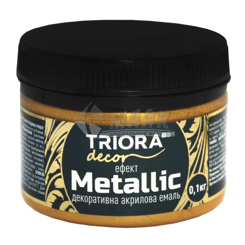 Фарба декоративна TRIORA Metallic 0,1 кг 928 червоне золото