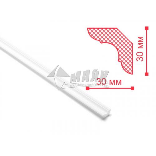 Плінтус стельовий декоративний NMC MP Decoplintus 30×30×2000 мм