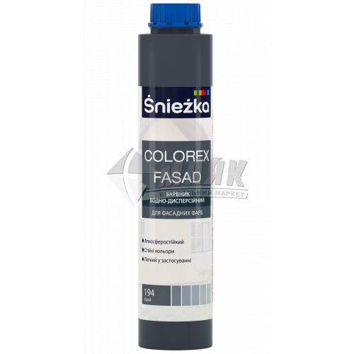 Барвник Sniezka Colorex Fasad 0,75 л 194 сірий