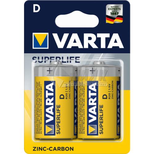 Батарейки VARTA Superlife D Zinc-carbon сольові (цинково-вугільні) 2 шт