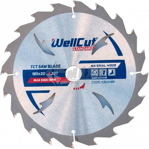 Диск пиляльний WellCut Standard 185×20 мм 20Т