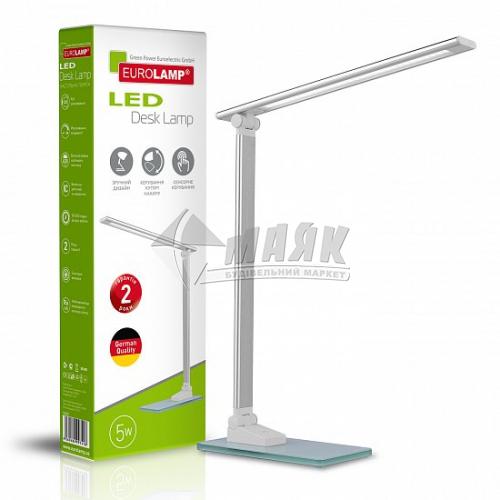 Лампа настільна світлодіодна EUROLAMP LED-TLG-2(silver) 5Вт срібна