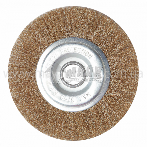 Щітка дротяна дискова 200 мм гофрований латунний дріт