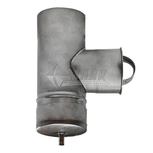 Ревізія димоходу ВЕНТ УСТРІЙ 90° 0,5×110 мм нержавіюча сталь 201