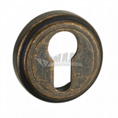 Накладка на циліндр кругла MVM E6 AMAB антична стара бронза матова