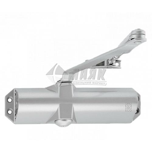 Доводчик дверний ECO-Schulte TS-10D 80 кг RAL 9006 срібний