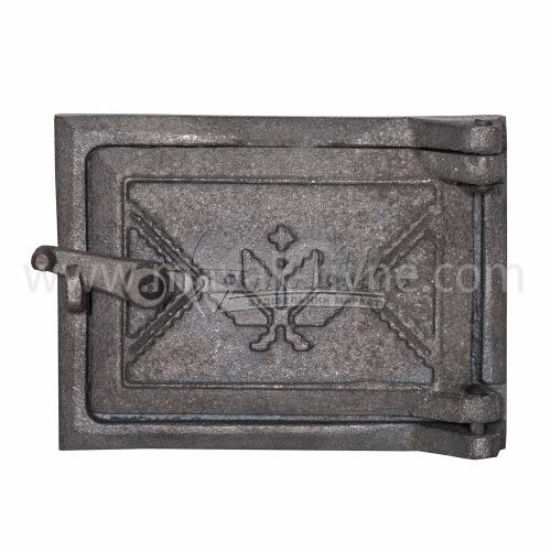 Дверцята прочисні чавунні Булат Вишиванка 170×130 мм 1,8 кг