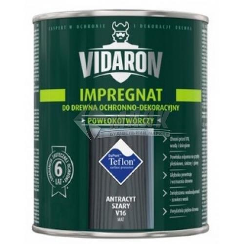 Захист для деревини Vidaron Impregnat 4в1 V16 700 мл антрацит сірий