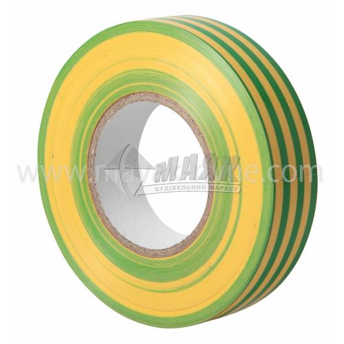 Стрічка ізоляційна IEK ПВХ 19 мм х 20 м жовто-зелена