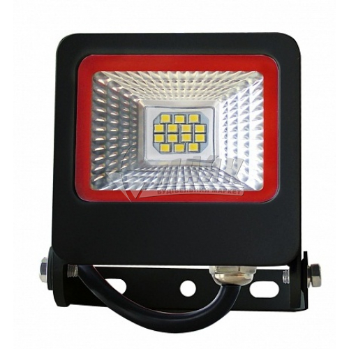 Прожектор світлодіодний EUROLAMP NEW 10Вт 6500°К чорний LED-FL-10(black)new