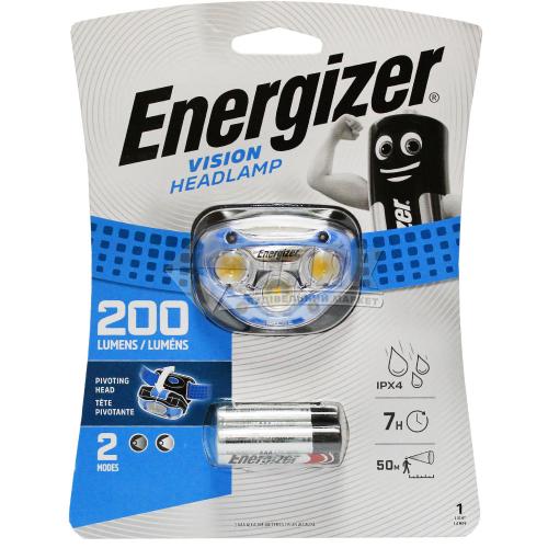 Ліхтар налобний на батарейках ENERGIZER Headlight Vision 3xAAA HDA323