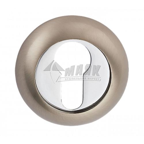 Накладка на циліндр кругла MVM E9 SN/CP нікель матовий/хром полірований