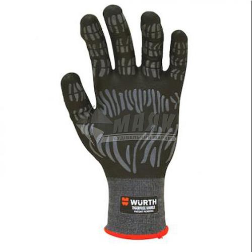 Рукавиці трикотажні робочі захисні двосторонні WURTH TIGERFLEX DOUBLE 0899411220 XL (10) покриття нітрилове
