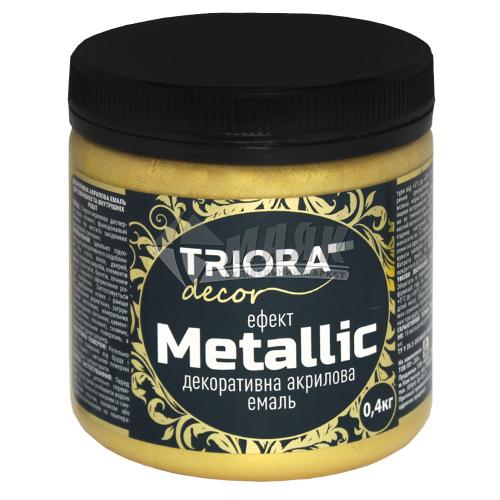 Фарба декоративна TRIORA Metallic 0,4 кг 926 золото світле