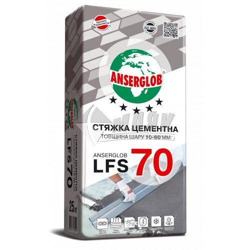Суміш для стяжки Anserglob LFS 70 Цементна шар 10-60 мм 25 кг