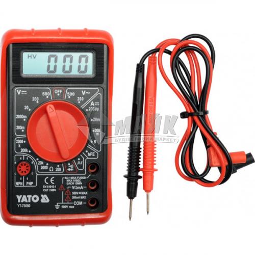 Мультиметр цифровий YATO YT-73080